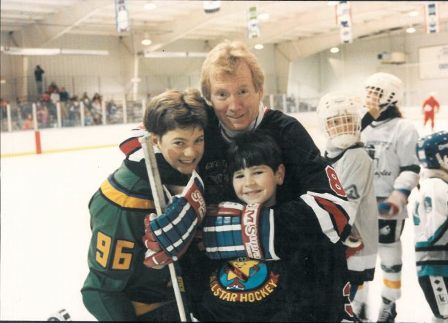 Jack White on set Mighty Ducks