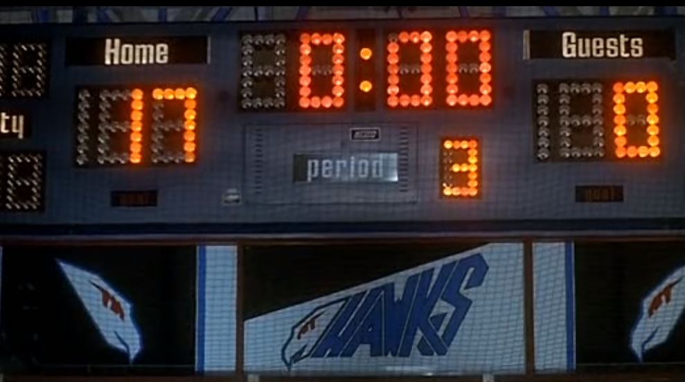 Hawks final score over the Mighty Ducks