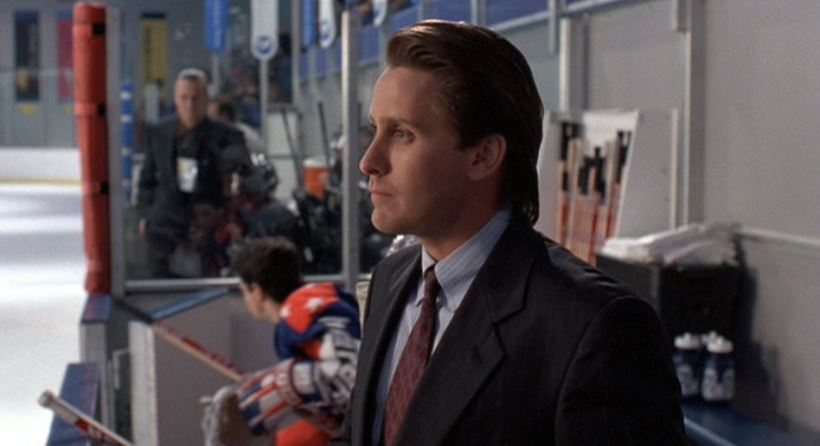 Gordon Bombay with Pat Riley hair
