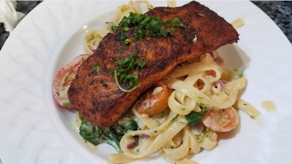 Chef JoJo's Salmon Alfredo